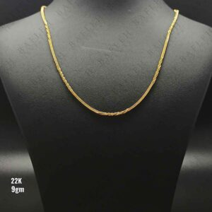 22Kt Singapore Half Square Twisted chain