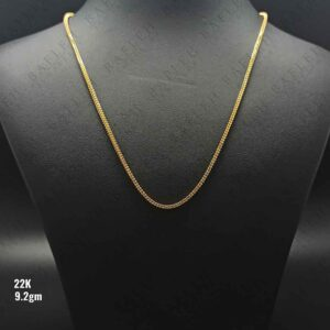 22Kt Singapore Round Double line beeds chain