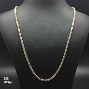 22Kt Singapore two color bullet chain